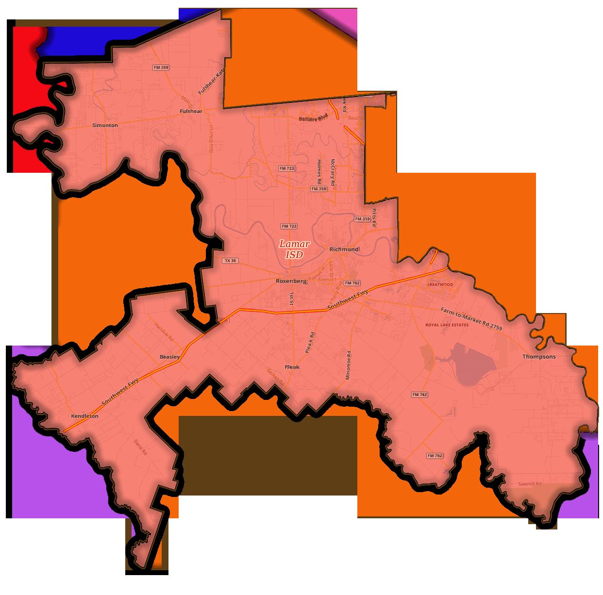 Lamar ISD - Counties